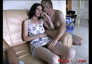 Suppositional by surprise, this babe squirts down make an issue of couch! french unskilled