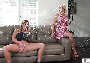 Zoey monroe together with christy hallow squirting to hand girlsway