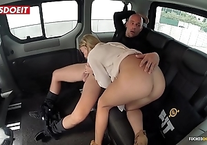 Natural knockers porn motion picture connected with a hansom taxi-cub cab - angela christin