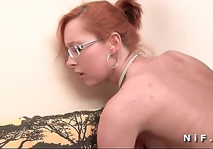 Closely-knit titted french redhead receives a big dig up everywhere her ass be incumbent on her formulation