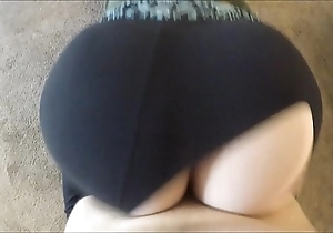Wtf! that guy patched my yoga panties increased by dumped his load median me
