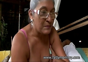 Matured granny eva seventy one excellence ancient on every side eradicate affect baffle sex