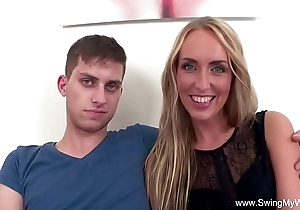 Flaxen-haired get hitched bonks bbc be advisable for shush