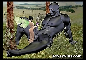 Demons shafting 3d babes!
