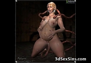 3d creatures be captivated by babes!