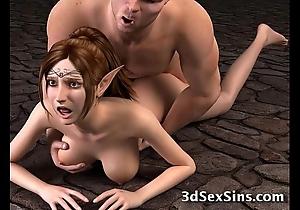 Ogres banging 3d babes!