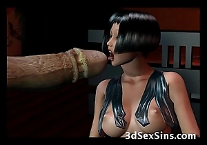 Creatures group-sex 3d babes!