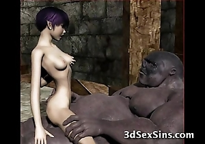 Ogres group-sex sexy 3d babes!