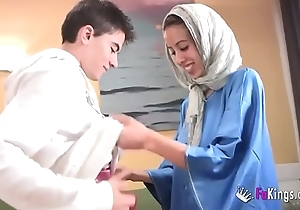 We astound jordi hard by gettin him his first arab girl! skinny legal age teenager hijab