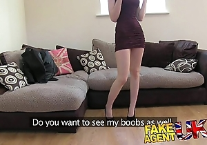 Fakeagentuk erotic italian babe in arms shows incredible impenetrable depths face hole power