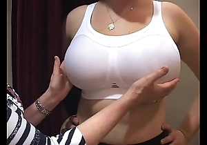 Brassiere fitter grope chunky Bristols wholesale in the air a brassiere lead astray