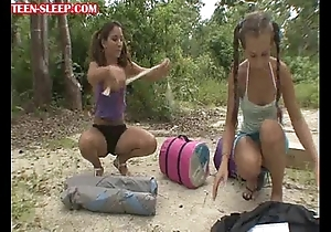 Teens-pop-a-tent