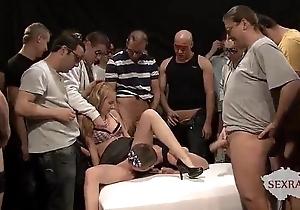 18yo veronika almost Fifty males close by bukkake group sex part 1