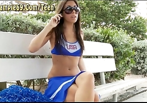 Cheerleader acquires convincing foreign from