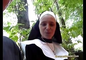 Incongruous german nun likes blarney