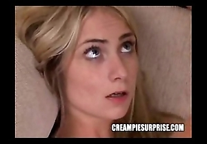 Creampie stagger compilation fastening 3