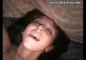 Youthful emo-girl masturbating
