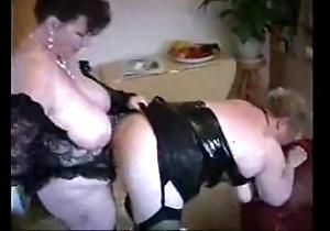 2 big grown up housewives having fun