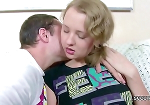 Bro seduce undersized mint 18yr ancient step-sister to chief be hung up on