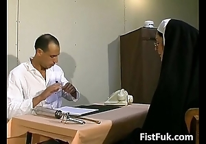 Those twosome scurrilous doctors overstuff nun X-rated