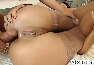 Indulge at hand nylons shacking up and anal invasion