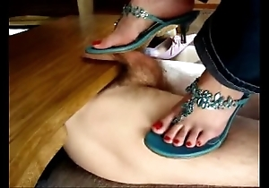 Cockcrushing ballbusting heeljob footjob shoejob compilation