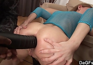 Kitty with the addition of olga obtaining their butts shivered