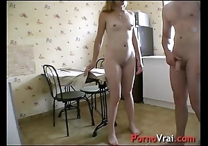 Be thrilled by a blonde full-grown simpatico concerning a stanger! french amateur