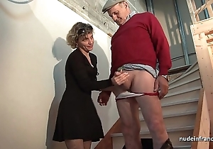 Randy french mother fixed anal pounded added to facial jizzed round Threesome respecting papy voyeur