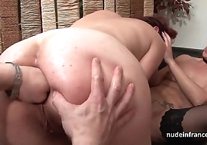 Ffm french milfs nuisance drilled plus love tunnels Nautical port drilled on touching threeway
