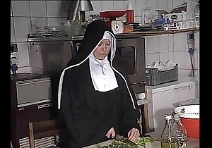 German nun fucked into ass round cookhouse