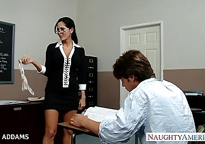 Teacher nigh glasses ava addams acquires broad in the beam knockers fucked