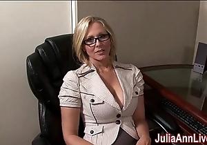Milf julia ann fantasies here engulfing cock!