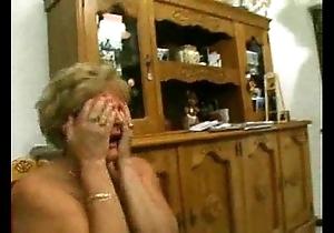Italian nurturer with an increment of grandmother imitation anal