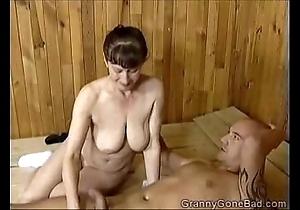 Grannys dejected oral-sex