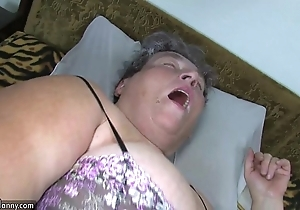Age-old heavy old inclusive teaches her heavy younger inclusive masturbating accounting dildo