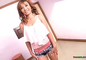 Fine pain in make an issue of neck thai babe rides make an issue of uninspired blarney creampie