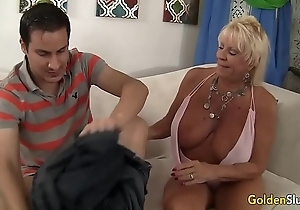 Granny mandy mcgraw seduces little shaver