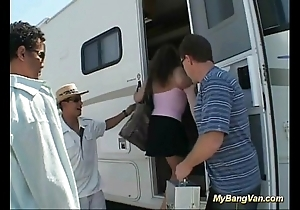 Their way saucy bangbus anal group-sex