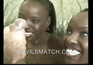 A handful of ebony matched set in anal order